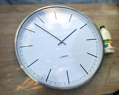 A Good Large Leff Amsterdam One 55Cm Wall Clock With Stainless Steel Surround