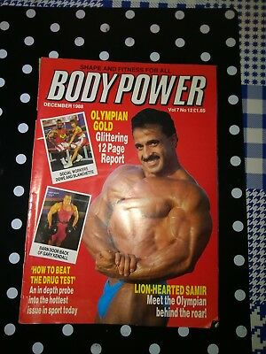 Bodypower Magazine December 1988 Bodybuilding Kimberley-Anne Jones Samir Bannout
