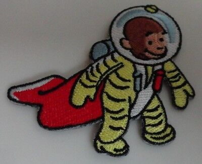 Curious George Cartoon Classic Astronaut Embroidered Iron On Patch New - Rare