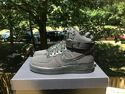 best service 8e37d a8241 NIKE AIR FORCE 1 HIGH  07 CANVAS BLACK ANTHRACITE GREY AH6768 001 Sizes 8-