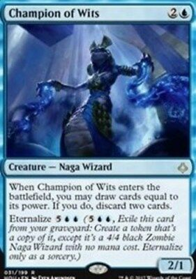 1x Champion of Wits - Foil NM-Mint, English Hour of Devastation MTG Magic