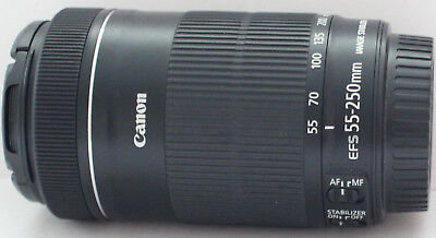 Canon EF-S 55-250mm f/4-5.6 IS STM [excellent condition & fully working]