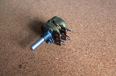 Dual Gang  Potentiometer 200K Logarithmic Ohm A stereo log vintage