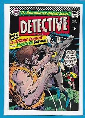 "Detective Comics #349_Mar 1966_Very Fine_Batman_""the Titanic Terror""_Silver Age!"