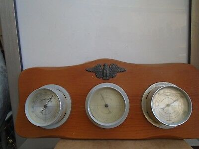 vintage SPRINGFIELD INSTRUMENTS wall mounted weather station   TAKE A LOOK