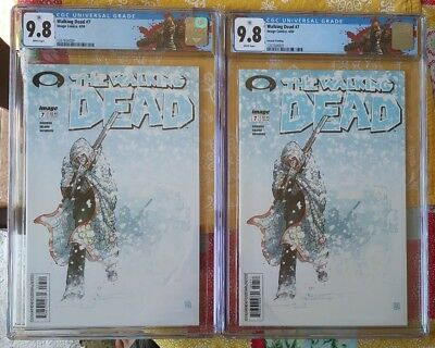 The Walking Dead #7 1st & 2nd print Both CGC 9.8 NM/MT Rick Labels! 1st Tyreese!
