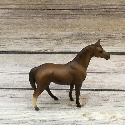 "Vintage 1975 Breyer Molding Small Brown Horse 3"" Figurine"