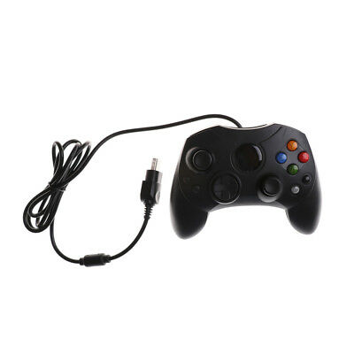 Dual Shock Black Wired Game Pad Controller For Microsoft Original Game BL