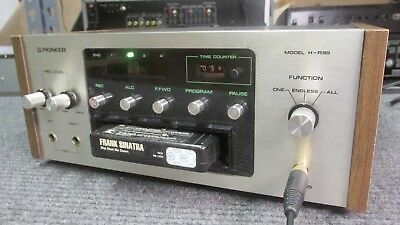 Clean Pioneer H-R99 Stereo 8 Track Tape Player Recorder Deck AS IS with issues