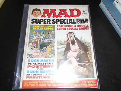MAD SUPER SPECIAL #14  EC Comics  US Edition  High Grade with Inserts 1974