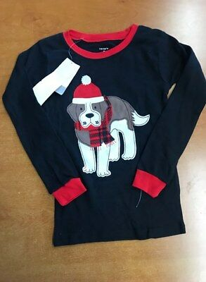 NEW Carters Boys Long Sleeve Shirt (BLACK/RED DOG, 5)