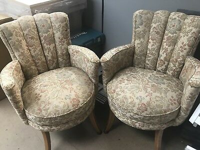 PAIR OF 1950s VINTAGE COCKTAIL CHAIRS