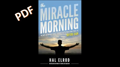 PDF The Miracle Morning - Hal Elrod in PDF format