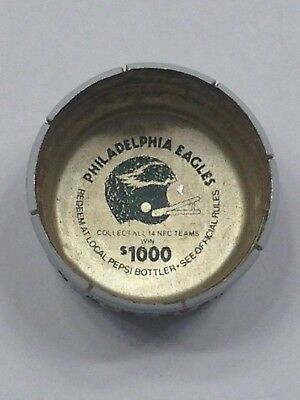 Nfl Mountain Dew Pepsi Bottle Cap Philadelphia Eagles Twist Off Game Piece