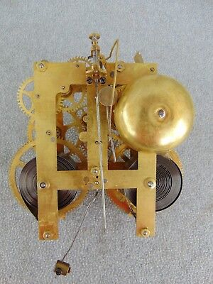Old Sessions 1/2 Hr Bell Mantle Shelf Clock Movement Clock Parts