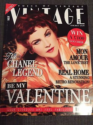 Vintage Life Magazine Issue 39 Feb 2014 Retro Fashion Lifestyle Home