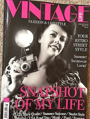 Vintage Life Magazine Issue 57 August 2015 Retro Fashion Lifestyle Weddings