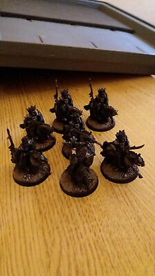 7 Morgul Knights Plus Command - Metal, Well Painted, Undamaged - Games Workshop