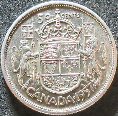 1957 Canada Silver Fifty Cent Coin