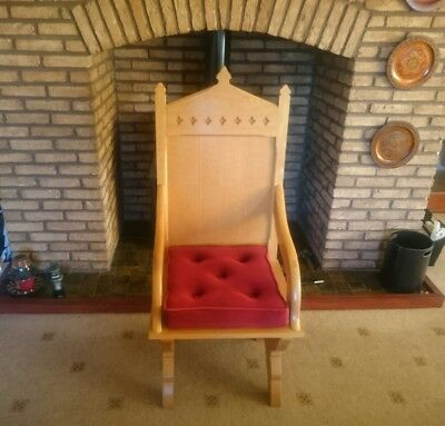 Hayes & Finch Modern Solid Oak Presidential Chair ( Throne ) RRP Over £1600