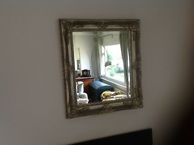 Silver framed Mirror With Antique style Frame was £160 (83cm,70cm,8cm)