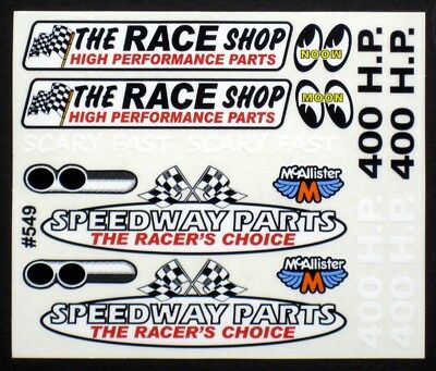 1//10th Oval Stock Car Classic Style Racing Number RC Car Decals Late Models
