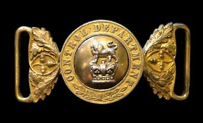 Extremely RARE British Officer's 1869 -1875 Control Department Waist Belt Clasp