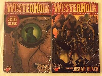 WESTERN NOIR BOOKS 1 & 2 by Dave West & Gary Crutchley (Accent UK, 2012)
