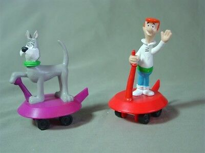 Pair of Jetsons Figures Fast Food Toys by Applause
