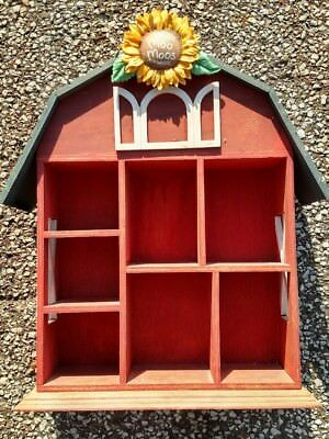 """1993 Enesco """"Mary's Moo Moos"""" Large Display Barn Shelf, With Seven Compartments"""