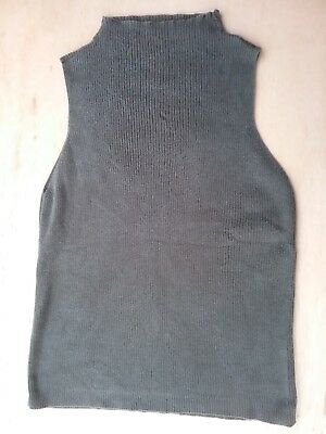 4b1a7778607d19 Women s Faded Glory Black Turtleneck Sleeveless Tank Size Large (12-14)