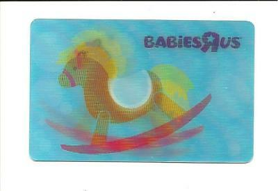 Babies R Us Lenticular Rocking Horse Gift Card No $ Value Collectible Toys R Us