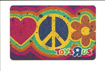 Toys R Us Peace Heart Flower Gift Card No $ Value Collectible ToysRUs