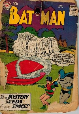 Batman Silver Age 10 cent # 124 The Mystery Seeds from Space June 1959