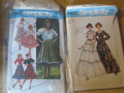 2879 Simplicity #7165 and 7842 Patterns, Size 14