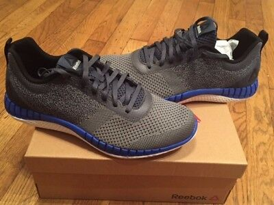 ad6d66d1ac1a19 REEBOK RBK PRINT Run Prime ULTK UltraKnit Grey Blue Men Running Shoes size  9.5 -  59.99