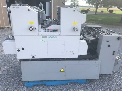1999 Hamada H248CX Offset 2 Color Printing Press   Machine was Over $36,500 new