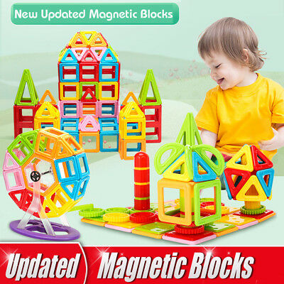 118pcs 3D Magnetic Tiles magnetic Building Blocks Educational Toys for Kids Gift