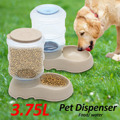 Automatic Pet Feeder Dispenser Waterer Dog Cat Self Feeding Food Water Bowl AU