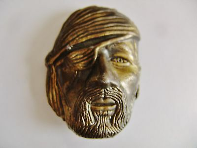 Vintage Mbci Brass Pirate Belt Buckle   Made In Usa