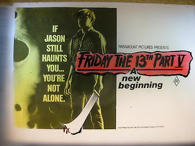 FRIDAY THE 13TH PART V 1985 Rare cinema movie projector glass slide horror Jason