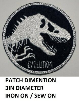 **Love It Or Its Free** New Jurassic World Logo Embroidered Iron On Patch F/S
