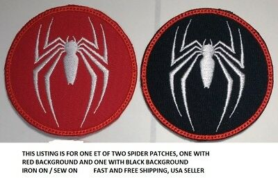 **Love It Or Its Free** Set Of 2 Spider Embroiderd Patch, Iron On, Free Ship