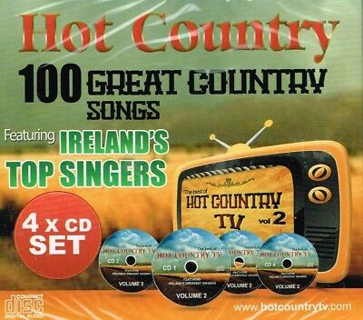 """HOT COUNTRY"" Brand New 4 CD SET - 100 Great Country Songs - Irish"