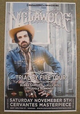 YELLAWOLF Trial By Fire Tour - Denver, Colorado Gig Flyer 11x17 Concert Poster