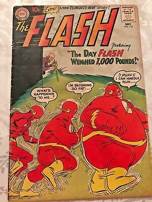 FLASH      # 115   (1960)              The Day Flash Weighed 1,000 Pounds