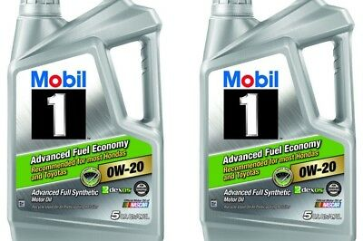 Mobil 1 0W-20 Advanced Fuel Economy Full Synthetic Motor Oil 10 qt Lubricant
