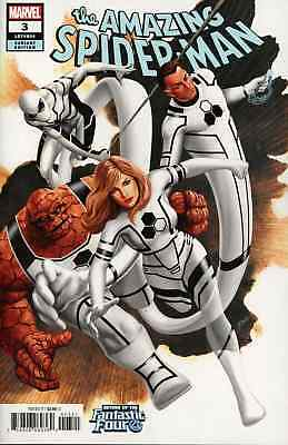 AMAZING SPIDERMAN 3 vol 5 2018 EPTING FANTASTIC FOUR RETURN VARIANT NM