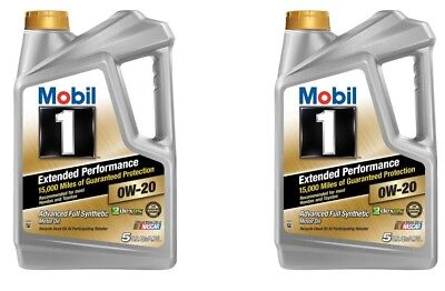 Mobil 1 Extended Performance 0W-20 Full Synthetic Motor Oil 10 qt Lubricant Lube