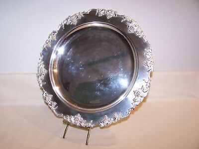 Vintage Barbour Silverplate Serving Platter/Tray - Grape Clusters